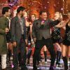 Cast of Movie Golmaal 3 and Mithun on the sets of Colors Diwali show