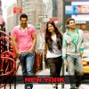 John Abraham : John Abraham, Katrina Kaif and  Neil Nitin walking on the footpath
