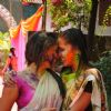 Shweta Salve & Narayani Shastri at Ekta, Sanjay and Kiran Holi Party at Versova