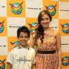 Darsheel Safary and Manjari Fadnis at Music launch of movie 'Zokkomon' at Planet M, Churchgate, Mumb