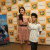 Darsheel Safary and Manjari Fadnis at Music launch of movie 'Zokkomon' at Planet M,Churchgate,Mumbai