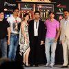 Hrithik Roshan, Dia Mirza, Karan Johar, Boman Irani & Arbaaz Khan at IIFA nominee announcement. .