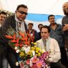 Dilip Kumar and Mithun at CINTAA celebrations at Andheri. .
