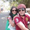 Sumeet Raghavan : Mugdha & Sumeet on a bike
