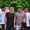 Sohail Khan, Arbaaz Khan, Dino Morea, Salman Khan at Men's Health Friendly Soccer match with celeb dads and kids at Stanslauss School. .