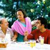 Anupam Kher : Ranjita Chakravarty serves food to Anupam and Anubhav
