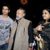 Shahid Kapoor : Shahid Kapoor with his father and mother