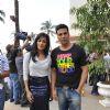 Akshay Kumar and Chitrangda Singh at 'Desi Boyz' media meet