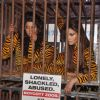 PETA - Gauhar Khan and Negar Khan in protest of Zoos at Mehboob
