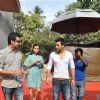 "Sahil Sangha, Jackky Bhagnani and Dia Mirza during the Mahurat of Movie ""Ajab Gazabb Love"""