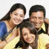 Prakash Raj : Aishwarya, Trisha and Prakash Raj at a photoshoot for the film Aakasamantha.