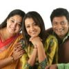 Trisha Krishnan : Aishwarya, Trisha and Prakash Raj at a photoshoot for the film Aakasamantha.