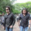 Bollywood actor Fardeen Khan with Director Sajid Khan at Dara Singh funeral. .