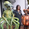 Choreographer-director Farah Khan promoting Joker with Aliens, Mumbai India. .