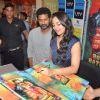 Bollywood actors Akshay Kumar, Sonakshi Sinha and Prabhu Deva at  the Rowdy Rathore Dvd launch in Mumbai. .