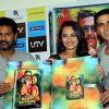 Prabhu Deva, Sonakshi Sinha and Akshay Kumar at DVD launch of 'Rowdy Rathore'