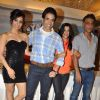Bollywood actrors Neha sharma, Tusshar Kapoor, producer Ekta Kapoor with director Sachin Yardi at Kya Super Cool Hain Hum success party in Sun N Sand, Mumbai. .