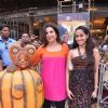 Film Director cum choreographer Farah Khan on the sets of  promote their movie Joker at Phoenix Mill Mumbai. .