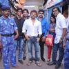 Himesh Reshammiya with Sur Kshetra team at Ganesh Mandal in Lowe Parel, Mumbai.