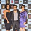 Neha Dhupia, Emraan Hashmi and Sagarika Ghatge and during the music launch of upcoming film Rush