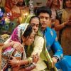 Surekha Sikri : Dadisa with Shiv and Anandi at their Sangeet Ceremony in Balika Vadhu