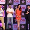 Sohail Khan, Ritesh Deshmukh and Bipasha Basu at CCL broadcast tie up announcement with Star Network