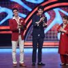 Saroj Khan : Saroj Khan along with Karan Wahi and Gautam Rode on Nach Baliye 5