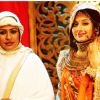 Ashwini Kalsekar : Ashwini Kalsekar and Paridhi Sharma on the set of Jodha Akbar