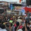 Shahrukh Khan performs for his fans at the celebration