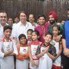 Randhir Kapoor and Rajiv Kapoor celebrate Ganesh Chaturti with the contestants of Junior Masterchef