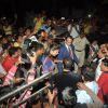 The crowd gathers around Deepika Padukone at the launch