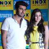 Arjun and Alia at '2 States' - press conference in Kolkota