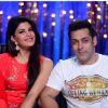 Salman Khan  and Jacqueline Fernandes at the Promotions of Kick on Jhalak Dikhhla Jaa