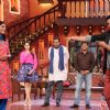 Akshay Kumar performs an act with Gutthi on Comedy Nights with Kapil