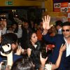 Akshay Kumar waves to the media at the Launch of World Kabaddi League in London