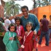 Anurag Basu poses with kids at North Bombay Sarbojanin Durga Puja