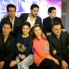 Team Happy New Year pose for the media during the Promotions in Delhi