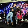 Deepika Padukone and Shah Rukh Khan shake a leg at the Promotions of Happy New Year in Delhi