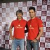 Milind Soman and Randeep Hooda pose for the media at the 'Mantastic Event' by Old Spice