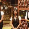 Contestants during the second part of the task Kabhi Haa Kabhi Naa on Bigg Boss 8