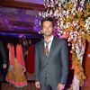 Rajneesh Duggal poses for the media at Uday and Shirin's Sangeet Ceremony