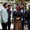 Team poses for the media at the Promotions of Tevar in Delhi