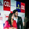 Sreesanth along with wife Bhuvneshwari Kumari at Hundred Hearts' Glamorous Charity Dinner