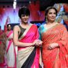 Shabana Azmi walks for Mandira Bedi at the Grand Finale of Lakme Fashion Week 2015