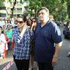 Rishi Kapoor with Neelam Kothari Protest Against the BMC