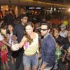 Jackky Bhagnani and Lauren Gottlieb click a selfie with fans at the Promotions of Welcome To Karachi