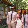 Saif Ali Khan and Karisma Kapoor pose for the media at the Felicitation Ceremony of Shashi Kapoor
