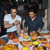 Riteish Deshmukh and Pulkit Samrat were snapped relishing delicacies at Mohammed Ali Road