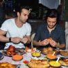 Riteish Deshmukh and Pulkit Samrat were snapped enjoying food at Mohammed Ali Road