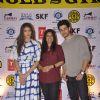 Sooraj Pancholi with Athiya Shetty Promotes Hero at Gold's Gym